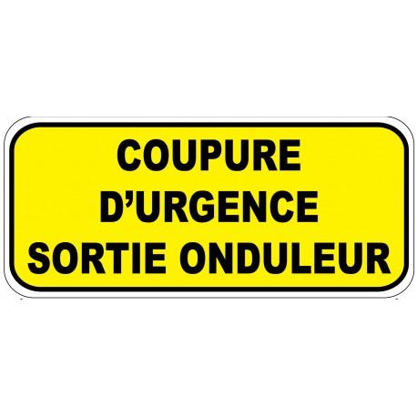 """Etiquette """"Coupure d'urgence entrée onduleur"""". Lot de 20ex"""