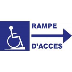 Panneau rampe accés handicapé à droite