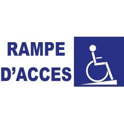 Panneau rampe d'accés handicapé