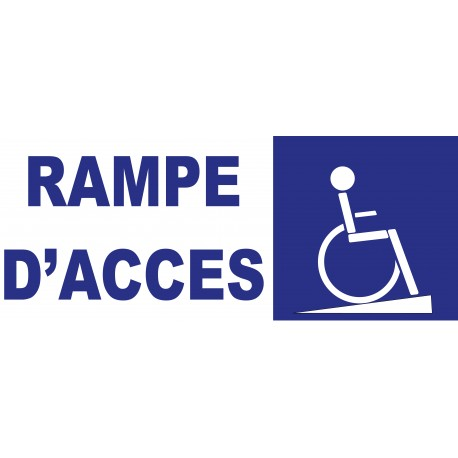 Panneau rampe d 39 acc s handicap for Rampe d acces handicape