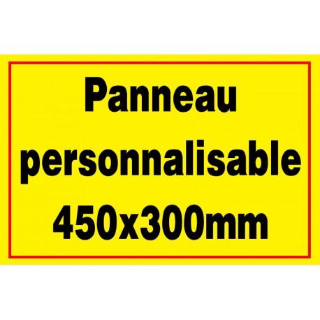 Panneau personnalisé en PVC 450x300mm
