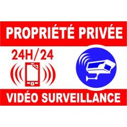 Proprièté privée vidéo surveillance 300X200mm