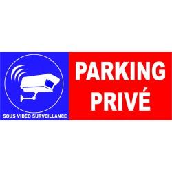 Parking privé site sous vidéo surveillance