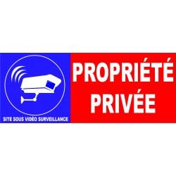 Propriété privé site sous vidéo surveillance