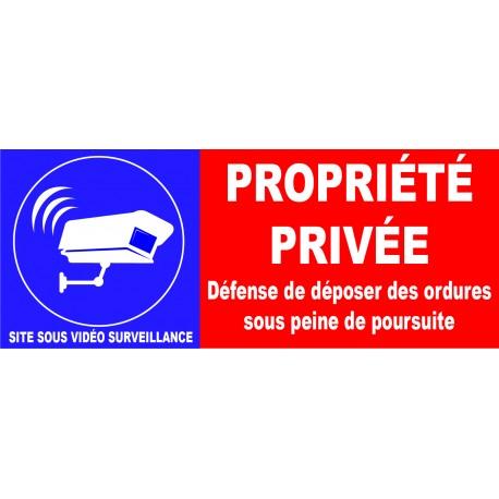 Propriété privé  sous vidéo surveillance