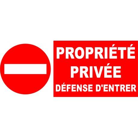 Interdit propriété interdit à tout véhicule