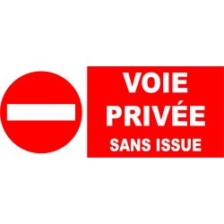 Interdit voie privée sans issue