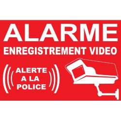 "Sticker ""Alarme enregistrement vidéo alerte la police"""