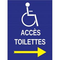 Panneau accès toilettes handicapé à droite