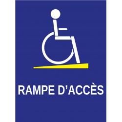 Panneau rampe d'accès handicapé