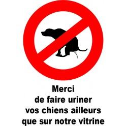 Merci de faire uriner vos chiens ailleurs que sur notre vitrine