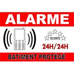 "Adhésif ""Alarme batiment protégé"" 300x200mm"