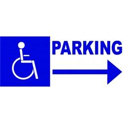 Panneau parking handicapé à droite