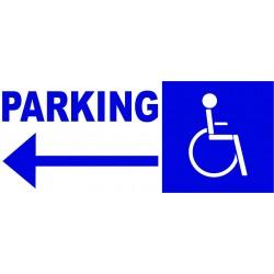 Panneau parking handicapé à gauche