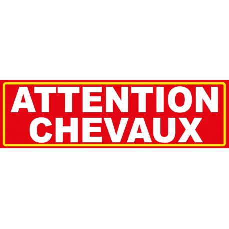 "Adhésif ""attention chevaux"""