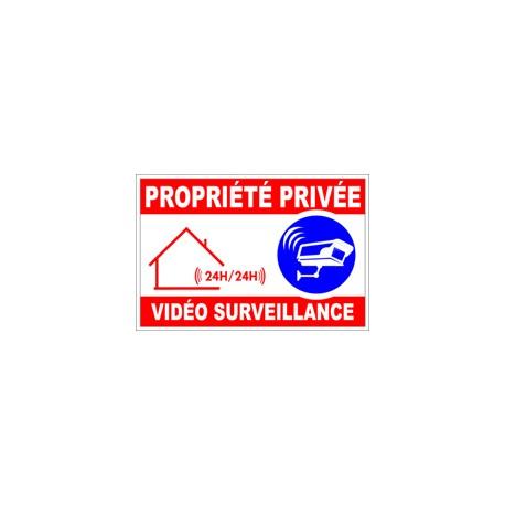 """Panneau """"Propriété privée vidéo surveillance"""""""