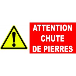 "Panneau danger ""Attention chute de pierres"""