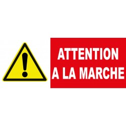 "Panneau danger ""Attention à la marche"""