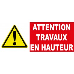 "Panneau danger ""Attention travaux en hauteur"""