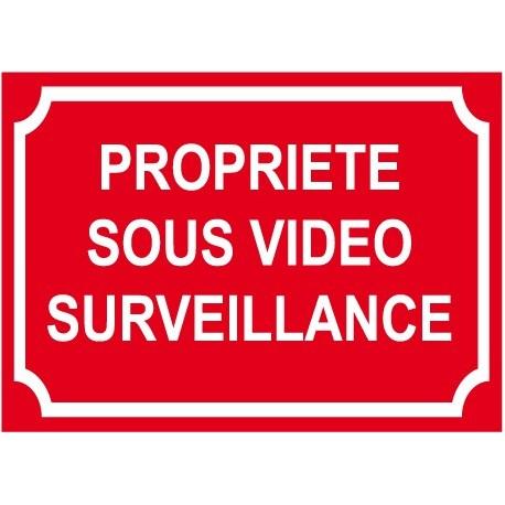 Propriété sous vidéo surveillance