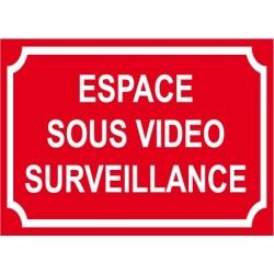 Espace sous vidéo surveillance 300x200mm