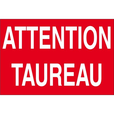 Attention taureau