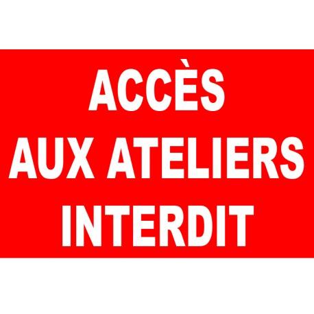 """Panneau """"Atelier direction gauche"""""""
