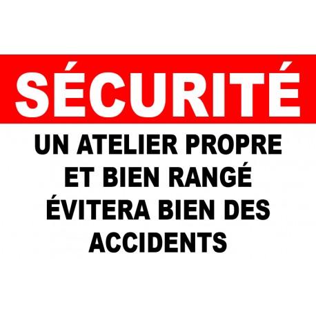 """Panneau """"Accès aux ateliers interdit"""""""