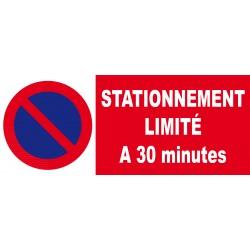 Panneau stationnement limité à 30 minutes