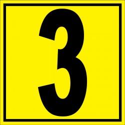 """Panneau signalétique pour entrepôt """"chiffre 3"""""""