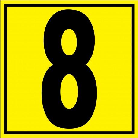"""Panneau signalétique pour entrepôt """"chiffre 8"""""""