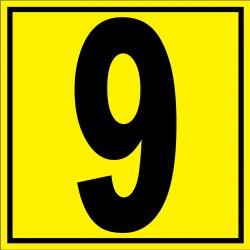 """Panneau signalétique pour entrepôt """"chiffre 9"""""""