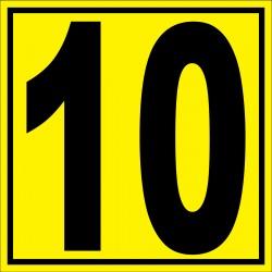"""Panneau signalétique pour entrepôt """"chiffre 10"""""""
