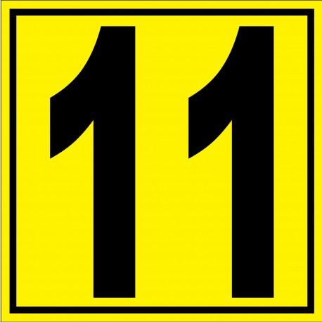 """Panneau signalétique pour entrepôt """"chiffre 11"""""""