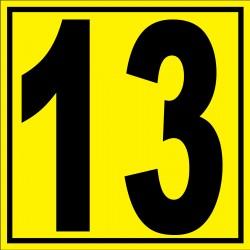 """Panneau signalétique pour entrepôt """"chiffre 13"""""""