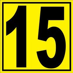 """Panneau signalétique pour entrepôt """"chiffre 15"""""""