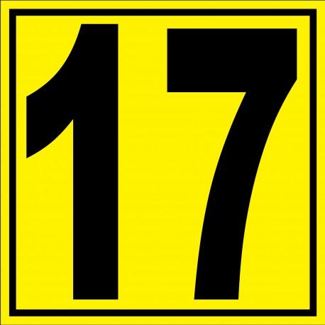 """Panneau signalétique pour entrepôt """"chiffre 17"""""""