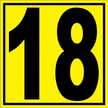 """Panneau signalétique pour entrepôt """"chiffre 18"""""""