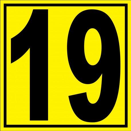 """Panneau signalétique pour entrepôt """"chiffre 19"""""""