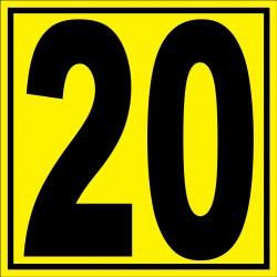 """Panneau signalétique pour entrepôt """"chiffre 20"""""""