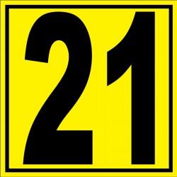 """Panneau signalétique pour entrepôt """"chiffre 21"""""""