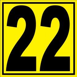 """Panneau signalétique pour entrepôt """"chiffre 22"""""""