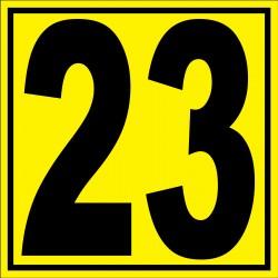"""Panneau signalétique pour entrepôt """"chiffre 23"""""""