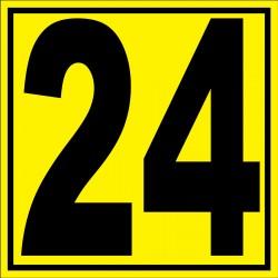 """Panneau signalétique pour entrepôt """"chiffre 24"""""""