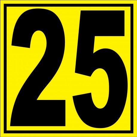 """Panneau signalétique pour entrepôt """"chiffre 25"""""""