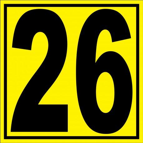 """Panneau signalétique pour entrepôt """"chiffre 26"""""""