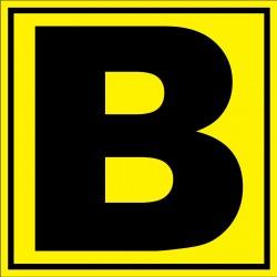 """Panneau signalétique pour entrepôt """"lettre B"""""""