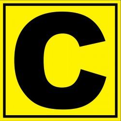 Panneau signalétique pour entrepôt lettre C