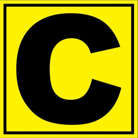 """Panneau signalétique pour entrepôt """"lettre C"""""""