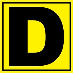 Panneau signalétique pour entrepôt lettre D